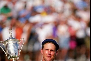 Payne Stewart after winning the 1991 U.S. Open at Hazeltine National.