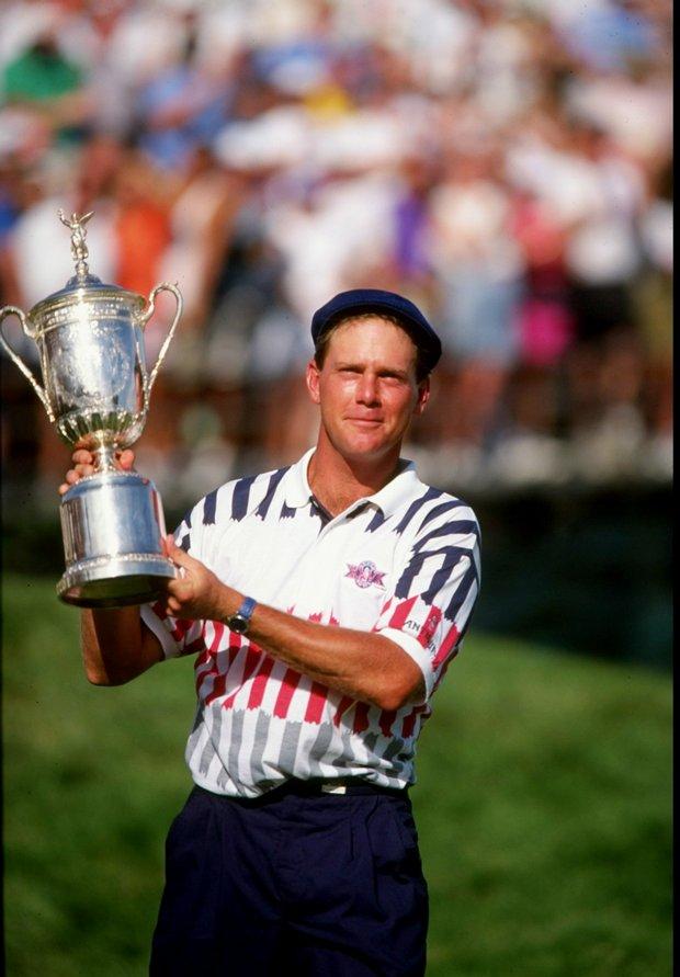 Payne Stewart after winning the 1991 U.S. Open at Hazeltine National.