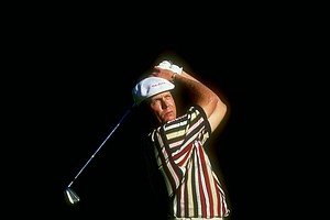 Payne Stewart during the 1998 PGA Championships at the Sahalee Country Club.