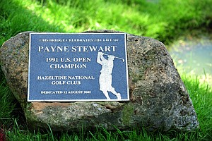 A bridge at Hazeltine National was named in honor of Payne Stewart, the 1991 U.S. Open Champion at Hazeltine.