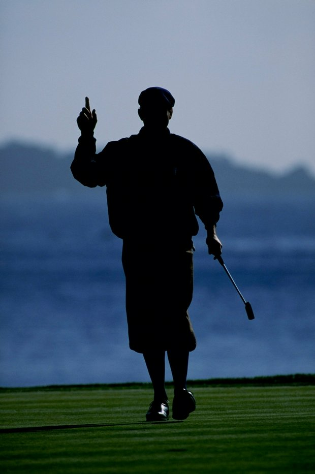 Payne Stewart during the 1999 AT&T Pebble Beach National Pro-Am.