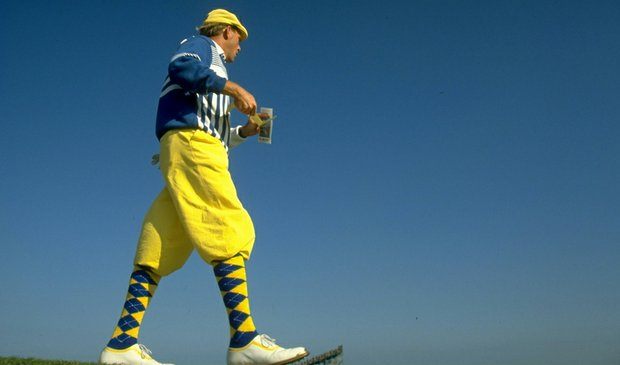 Payne Stewart during the 1990 British Open at St. Andrews.