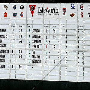 The scoreboard at No. 18.