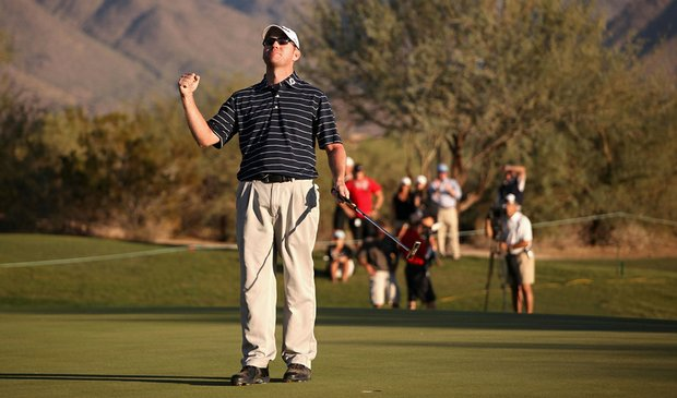 Troy Matteson celebrates after winning the Frys.com Open Oct. 25 at Grayhawk Golf Club.