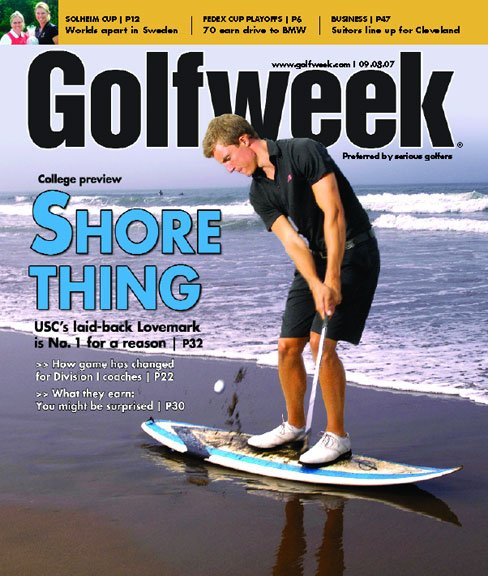 Sept. 8, 2007 issue of Golfweek (College Preview/Jamie Lovemark)