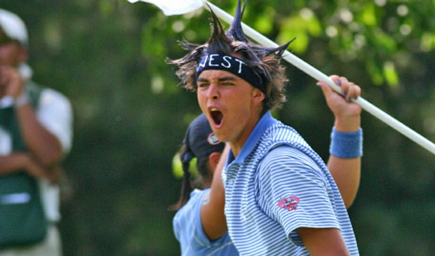 Rickie Fowler got a bit festive during the AJGA's 2006 Canon Cup.