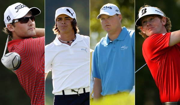 (L to R) Michael Sim, Rickie Fowler, Chad Campbell and Brandt Snedeker.
