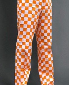 Loudmouth in orange with their Rocky Top pant.