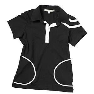 Quagmire's ladies Chilled polo in black.