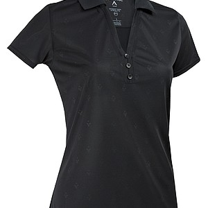 Ladies black polo from from Antigua's 2010 Desert Dry Xtra-Lite collection.