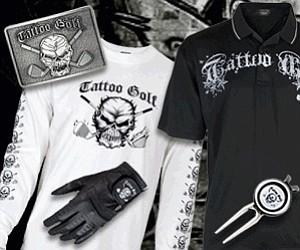 Men's gear from Tattoo Golf.