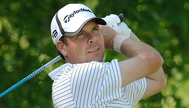 Doug Barron plays a shot at the Nationwide Tour's Melwood Prince George's County Open in May 2008.