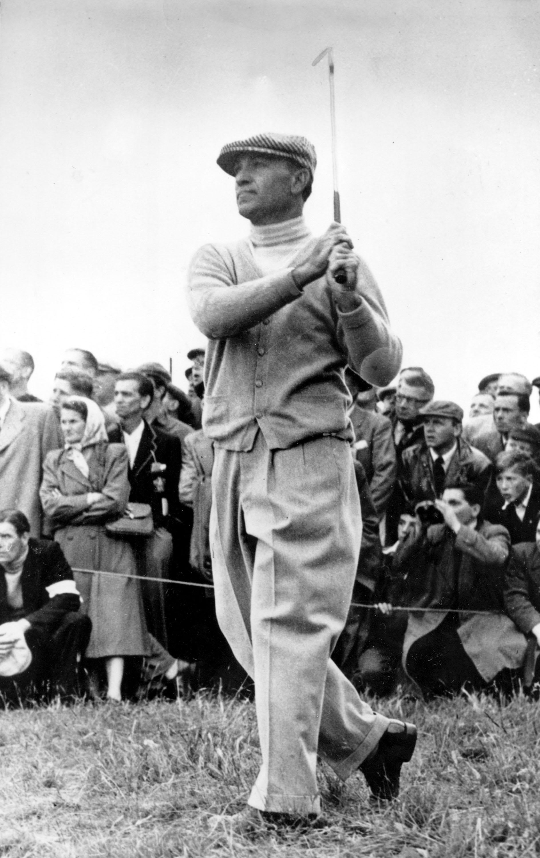 Ben Hogan at the 1953 British Open at Carnoustie.