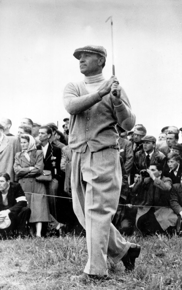 Ben Hogan at the 1953 British Open at Carnoustie.