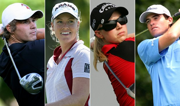 (L to R) Peter Uihlein, Brittany Lincicome, Morgan Pressel, Drew Weaver
