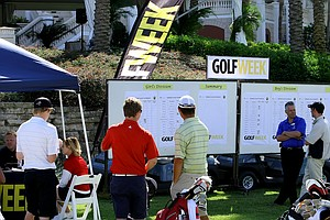 The scoreboard during the Golfweek Junior Invitational at Reunion Resort.