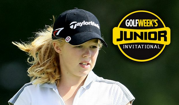 Stephanie Meadow was the only player to break par Saturday at the Golfweek Jr. Invitational.
