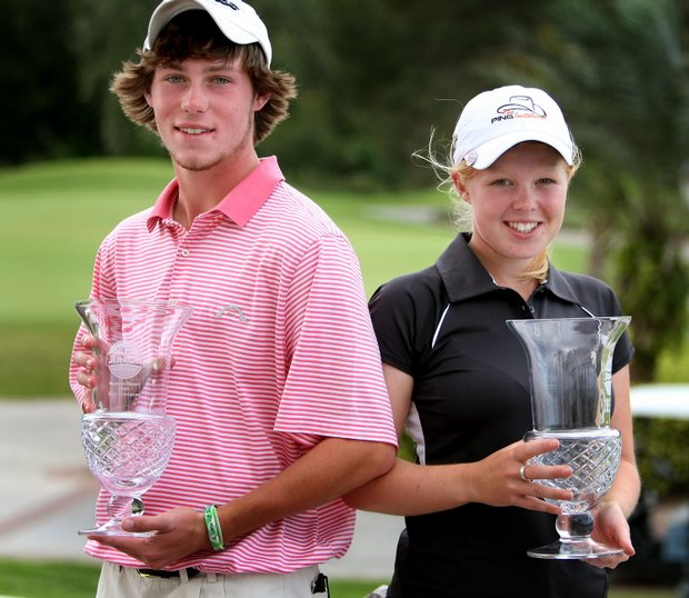 Mike Miller and Stephanie Meadow won the Golfweek Junior Invitational.