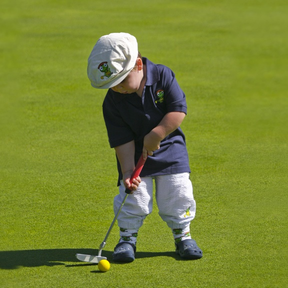 Polo and knickers for the littlest golfer.