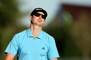 Justin Rose reacts to his putt at No. 18 during the final round.