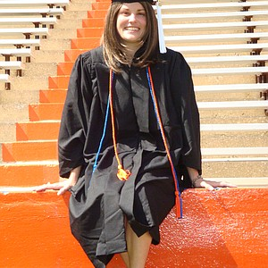 Mallory Code at her University of Florida graduation on Aug. 8, 2009.