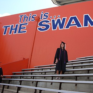 Mallory Code at Ben Hill Griffin Stadium at the University of Florida.