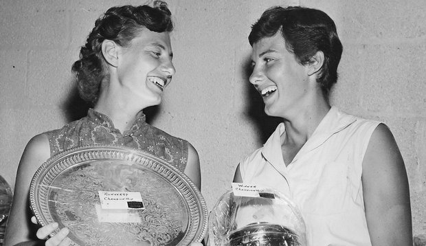 Beverly (Eller) Pearce (left) and Judy (Eller) Street are both members of the Tennessee Golf Hall of Fame.