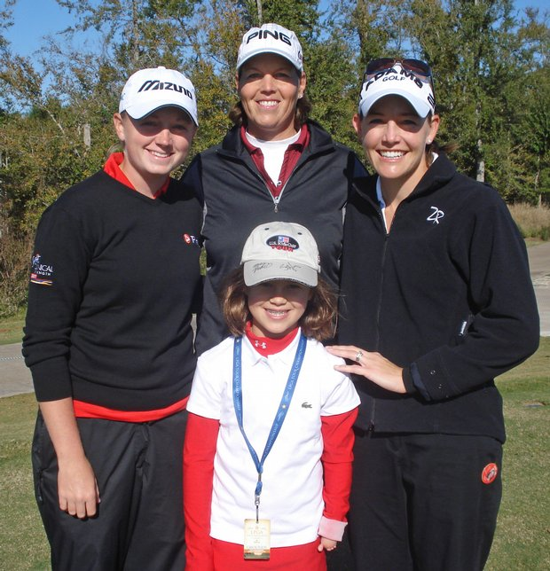 From left to right: Stacy Lewis, Wendy Ward, Abigail Davis and Stephanie Louden.