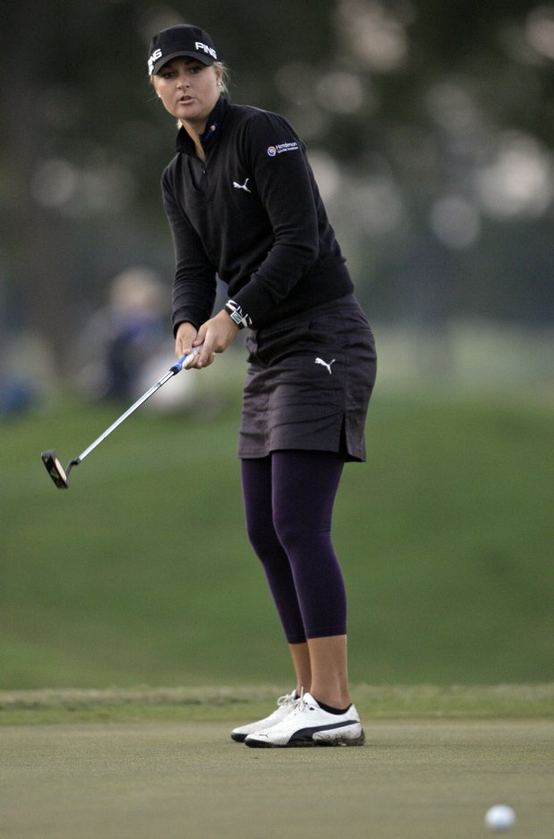 Anna Nordqvist wears leggings under her skirt for warmth and style.