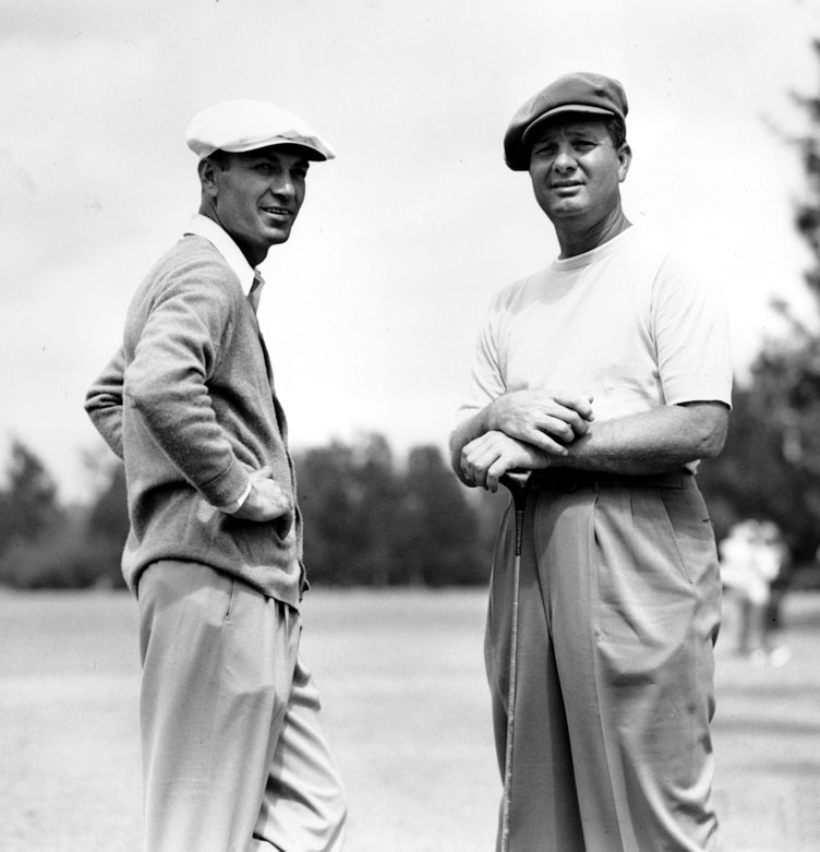 Ben Hogan (left) and Jimmy Demaret.