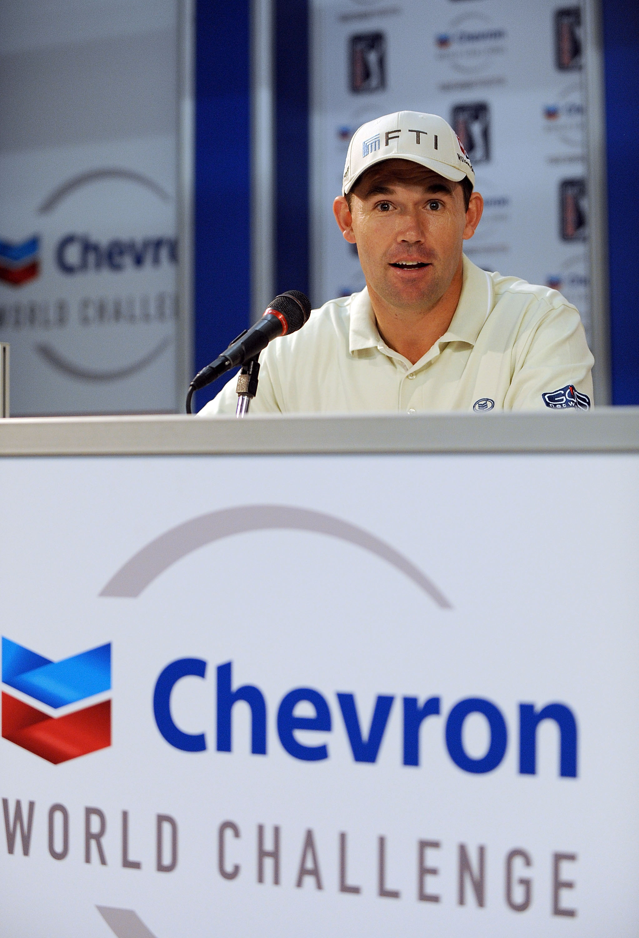 Padraig Harrington at a press conference Dec. 1 at the Chevron World Challenge.