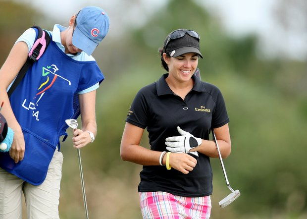 Co-leader Nikki Garrett followed her opening 67 with a second-round 71.