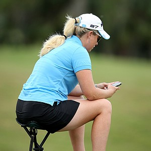 Brittany Lincicome sits at No. 18 during Wednesday's round of LPGA Qualifying School.