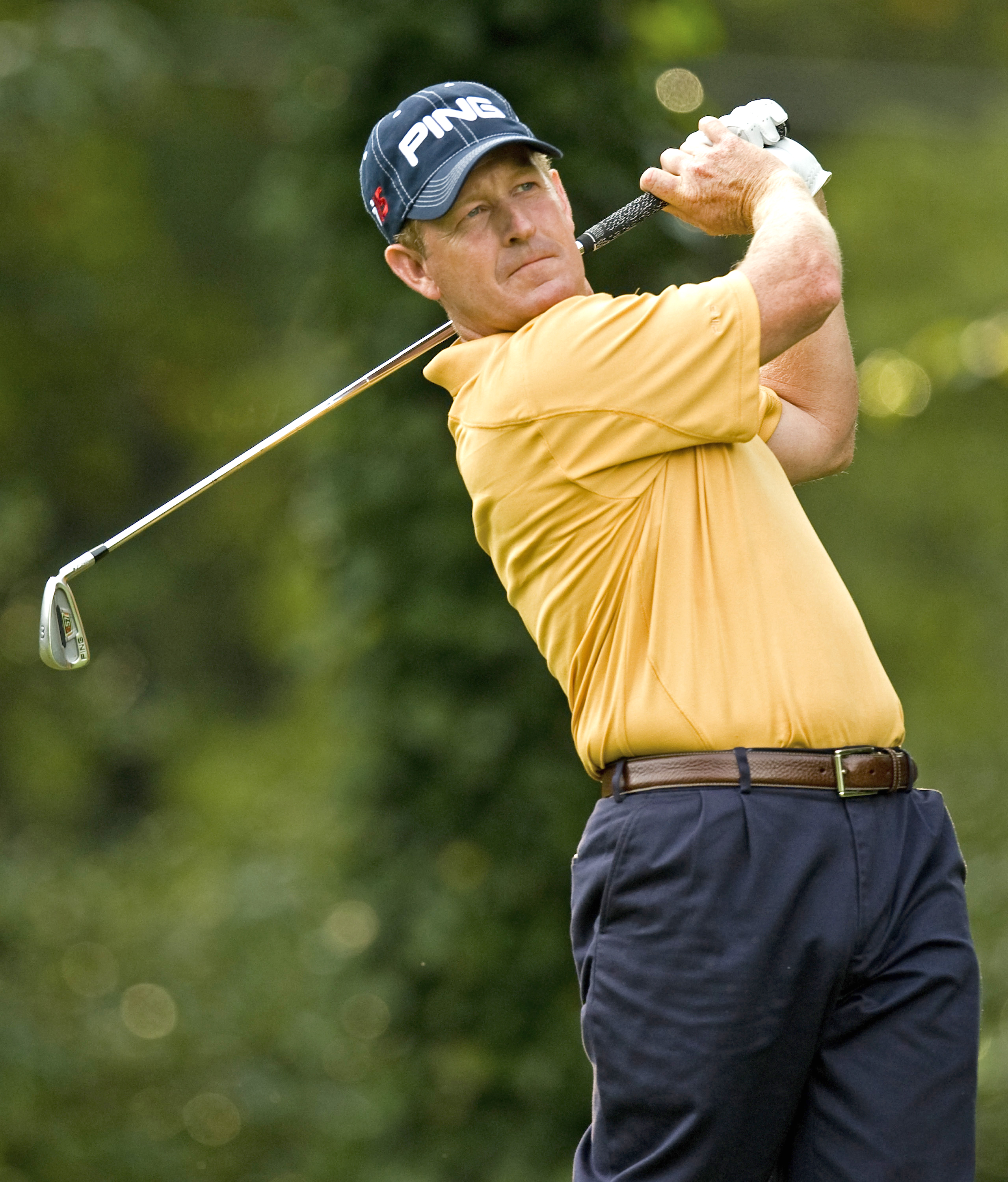 Jeff Maggert shot 67 Friday and is tied for third place.