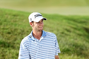 Troy Merritt at No. 18 on the Lakes Course.