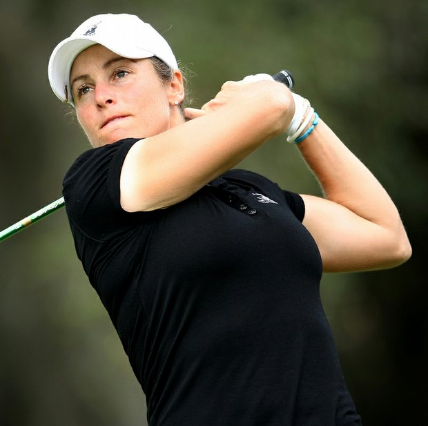 Liz Janangelo is tied for 13th as LPGA Q-School remains on hold.