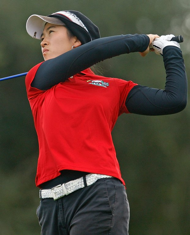 Lucy Kim during the final round of LPGA Q-School.