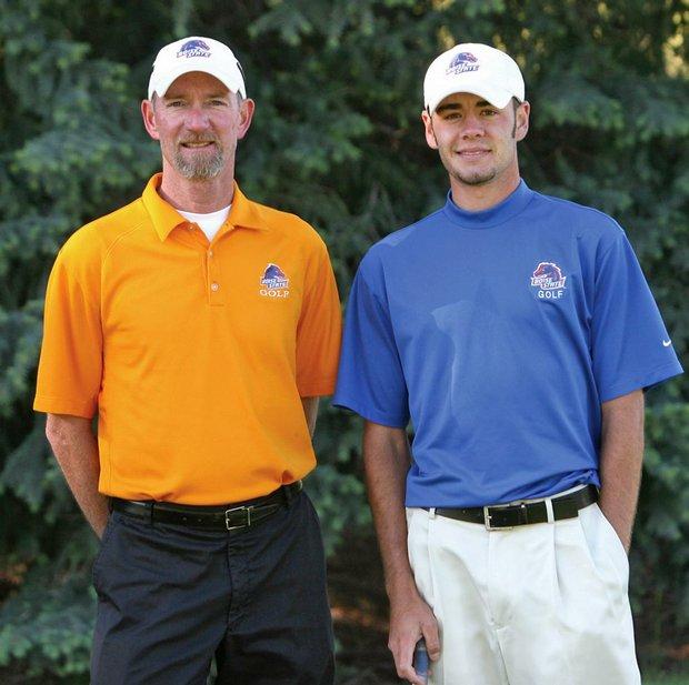 Boise State coach Kevin Burton (left) and Troy Merritt