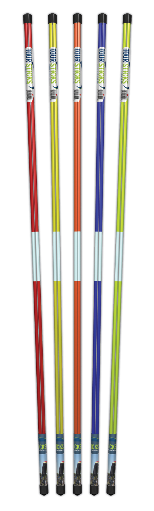 Tour Sticks sells alignment aids in pairs, available in several colors, in a clear tube.
