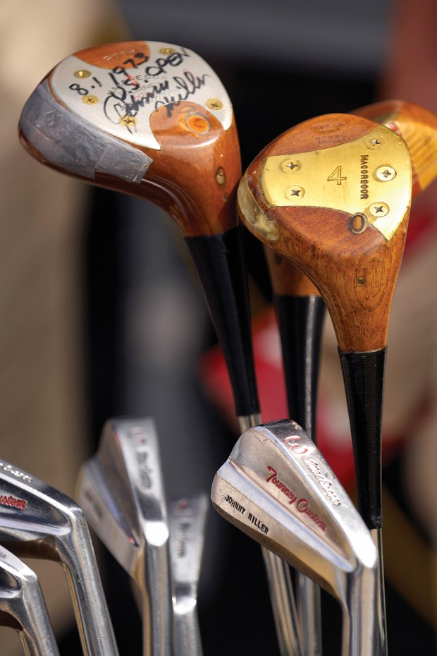 Johnny Miller's set of MacGregor clubs from his 1973 U.S. Open victory.