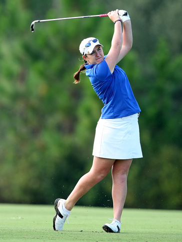 Amelia Lewis hits a shot during the 2009 Hooters Collegiate Match Play Championship in Daytona Beach, Fla.
