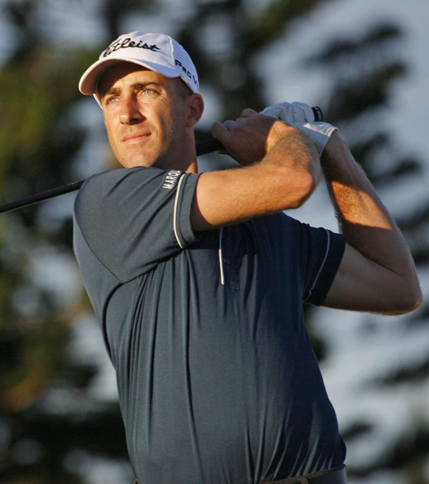 Geoff Ogilvy during a practice round for the SBS Championship.