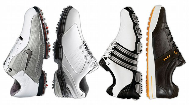 (From left to right) Nike Air Zoom TW 2010, FootJoy FJ Sports, Adidas TOUR360 4.0 and Ecco Golf Street Premier.