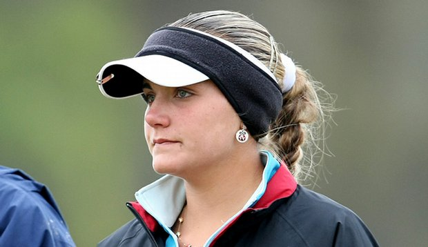 Alexis Thompson bundled up for the final round of the Harder Hall.
