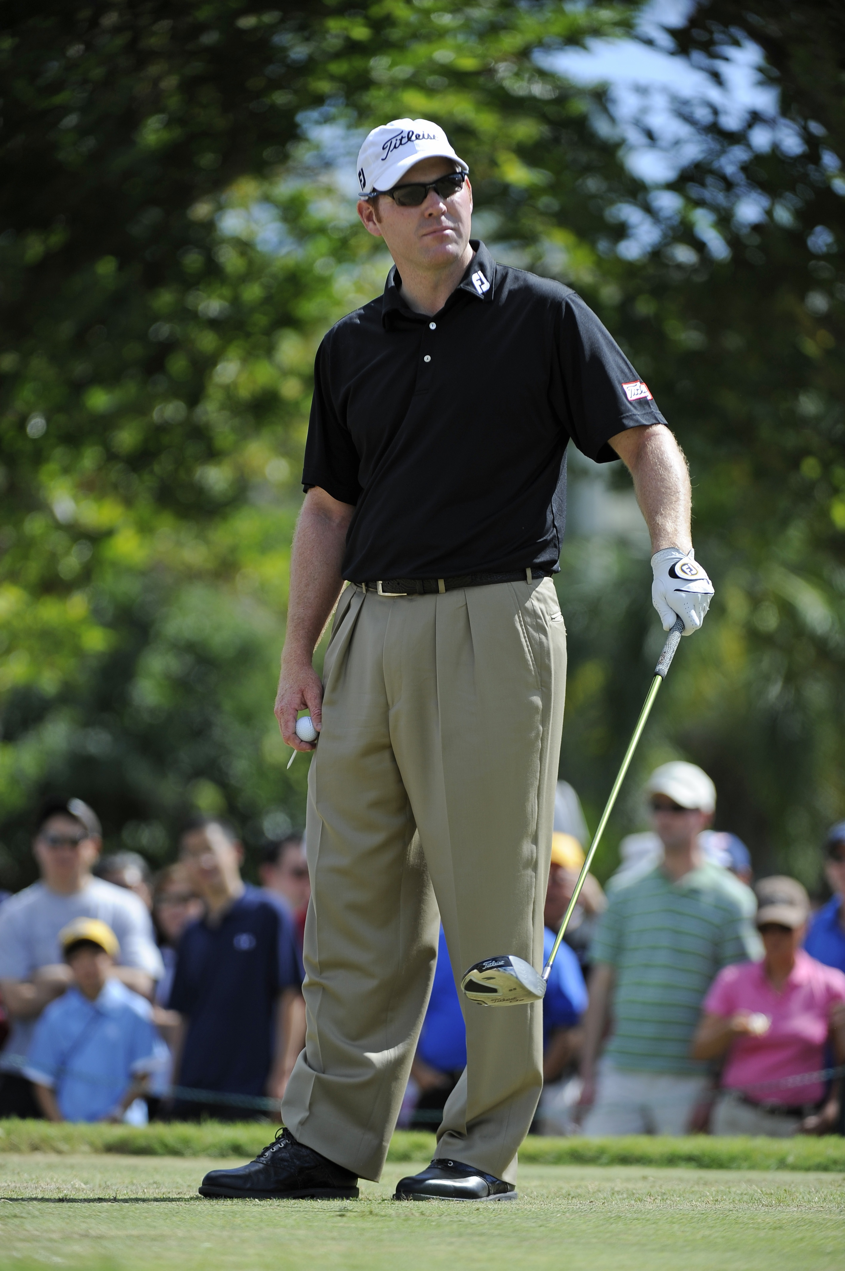 Troy Matteson in oversized, ill-fitting clothes during the final round of the Sony Open.