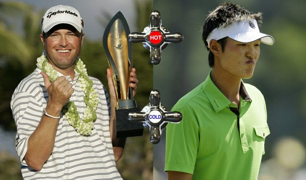 Ryan Palmer (left) won the Sony Open last weekend, while Danny Lee has yet to follow up on his 2009 Johnnie Walker victory.