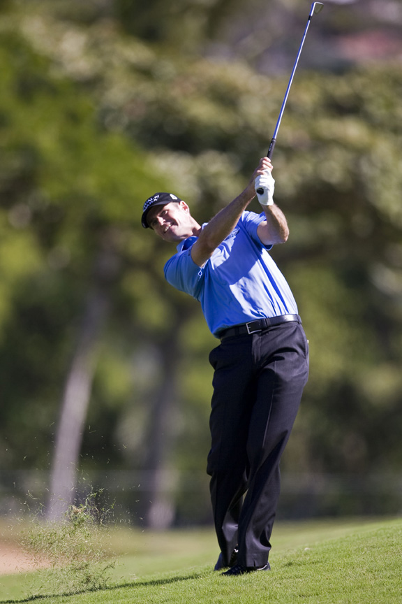 Roger Tambellini hit 18 greens in regulation during the first round of the Bob Hope Classic.