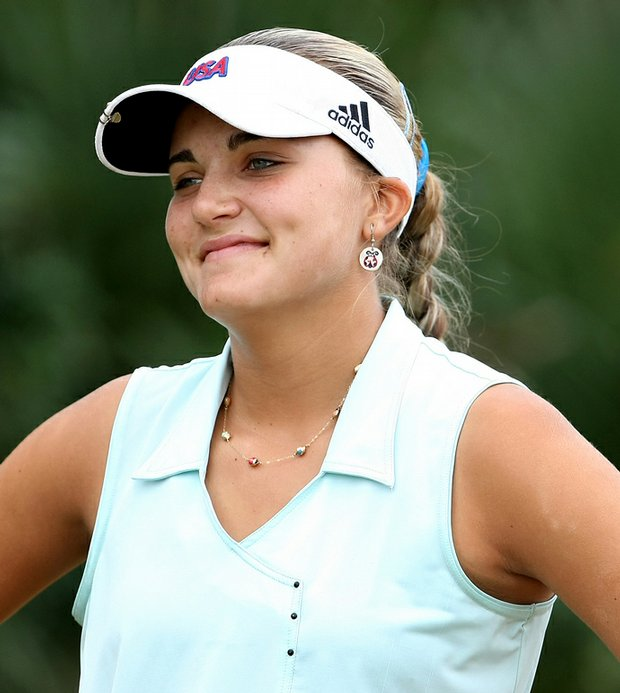 Alexis Thompson was one of the seven amateurs who received an invitation to the Kraft.