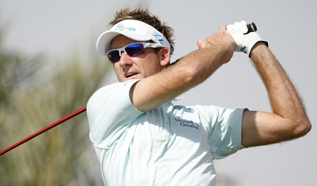 Ian Poulter during the first round of the Abu Dhabi Championship.