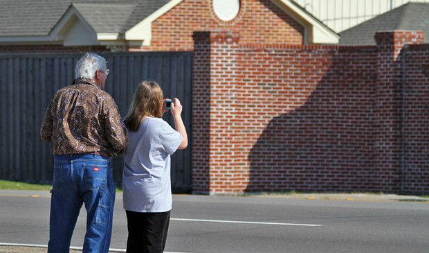 Residents photograph the Gentle Path facility in Hattiesburg, Miss., where it is speculated that Tiger Woods is being treated.